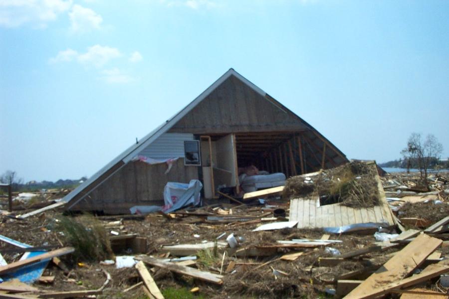 Debris near our home - Oak Harbour 3 9 2005